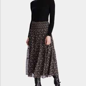 Ralph Lauren Tiered Georgette Skirt 🤎